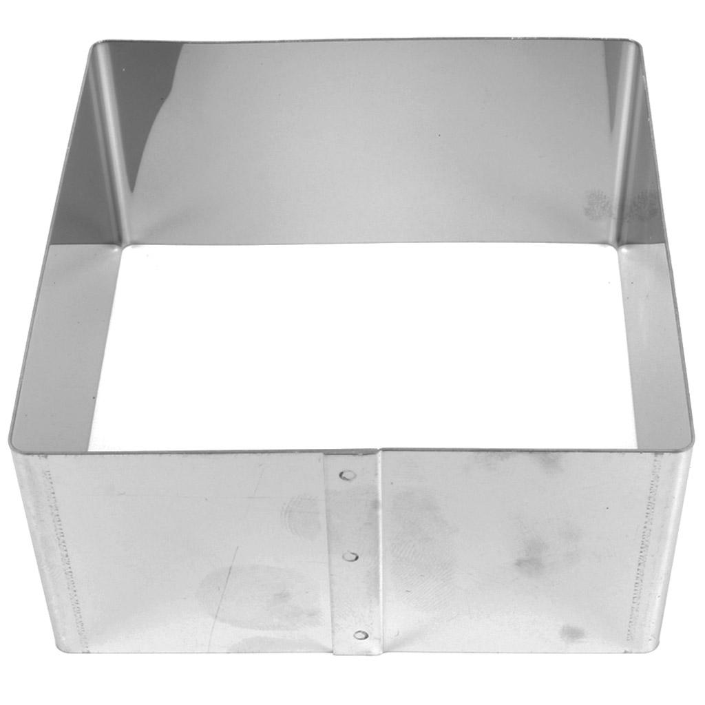 Grand emporte pi ce en inox pour modelage 80x40 mm carr perles co - Emporte piece pour evier inox ...