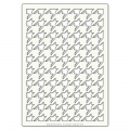 Grand Pochoir décoratif Artistic Flair 21x29,7 cm Houndstooth