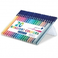 20 feutres Triplus Fineliner de 1 mm - STAEDTLER - Brillant Colours