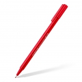 Feutre triangulaire pointe 0.8 mm - triplus broadliner STAEDTLER - Rouge