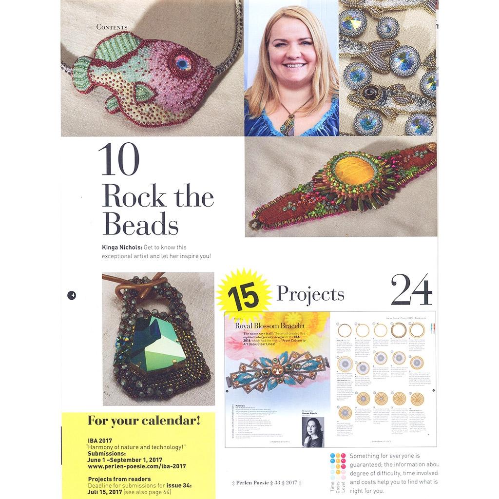 perlen poesie n 33 magazine allemand traduit en anglais perles co. Black Bedroom Furniture Sets. Home Design Ideas
