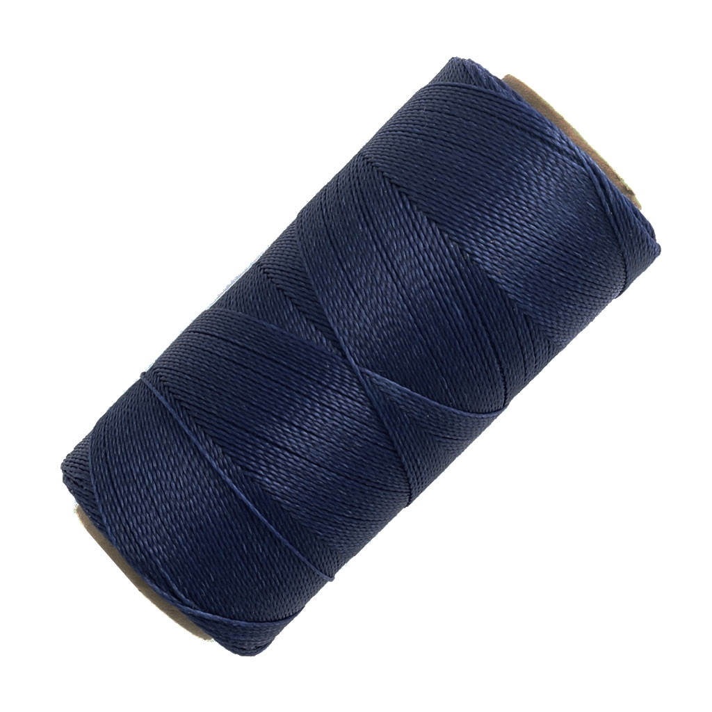 bobine de fil cir linhasita pour micro macram 0 5 mm navy blue perles co. Black Bedroom Furniture Sets. Home Design Ideas