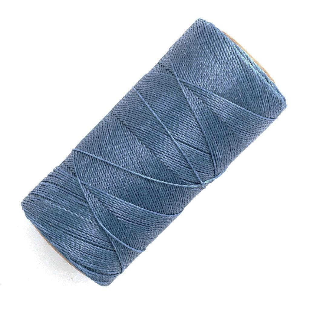 bobine de fil cir linhasita pour micro macram 0 5 mm denim blue perles co. Black Bedroom Furniture Sets. Home Design Ideas