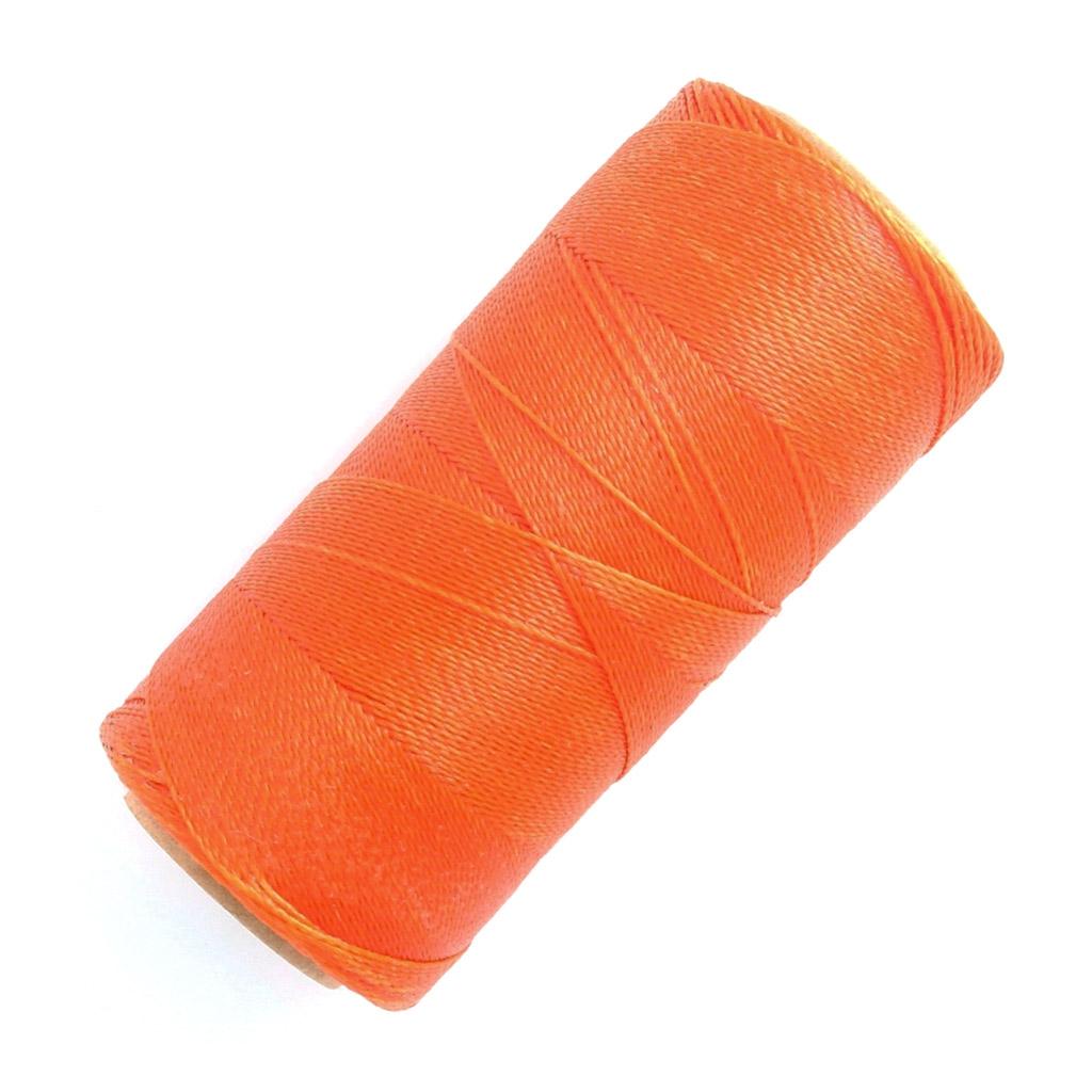 bobine de fil cir linhasita pour micro macram 0 5 mm orange 387 perles co. Black Bedroom Furniture Sets. Home Design Ideas