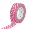 Masking Tape Ex 15 mm - motif Flower Stamp x10m