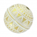 Perle ronde 24 mm White/Gold x1