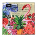 Serviettes en papier Tropical Garden 33 cm Multicolore x20