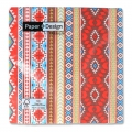 Serviettes en papier Mexican Style 33 cm Marron/Red Coral x20