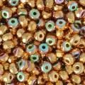Perles facettées en verre tchèque Micro Spacers 2x3mm 24 K Gold Plated .AB x25