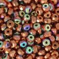 Perles facettées en verre tchèque Micro Spacers 2x3 mm Copper Plated AB x50