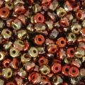 Perles facettées en verre tchèque Micro Spacers 2x3 mm California Gold x50