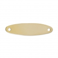 Intercalaire fin Plaque ovale 2 trous 24x6,2 mm en Gold filled 14 carats