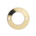 Intercalaire fin Rond 2 trous 13 mm en Gold filled 14 carats