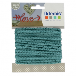 Fil tricotin pour la customisation 5 mm Green Turquoise x 5m