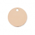 Sequin rond 9 mm Rose Gold filled 14 carats x1