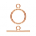 Fermoir T 11 mm Rose Gold filled 14 carats x1