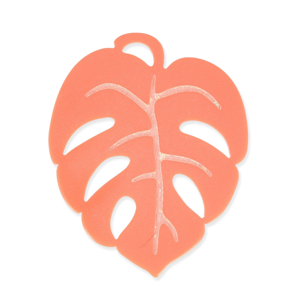 meilleur site web 4f7a4 926c4 Pendentif Tropical feuille de philodendron 60 mm - création de bijoux  fantaisie - Corail