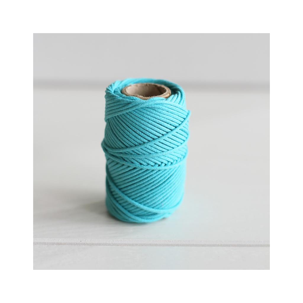 Fil en coton cir wax pour macram kesi art 1 mm baltic x 20 m perles co - Fil pour macrame suspension ...