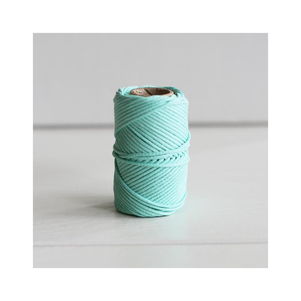 fil en coton cir wax pour macram kesi art 1 mm vert. Black Bedroom Furniture Sets. Home Design Ideas
