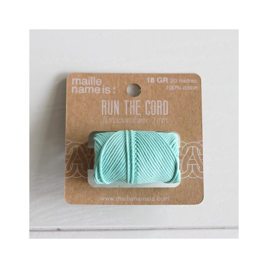 Fil en coton cir wax pour macram kesi art 1 mm vert d 39 irelan perles co - Fil pour macrame suspension ...