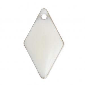 sequins losanges en m tal et r sine poxy 16 mm blanc x 8 perles co. Black Bedroom Furniture Sets. Home Design Ideas