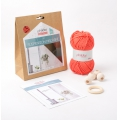 Kit DIY suspension en macramé couleur Corail x1
