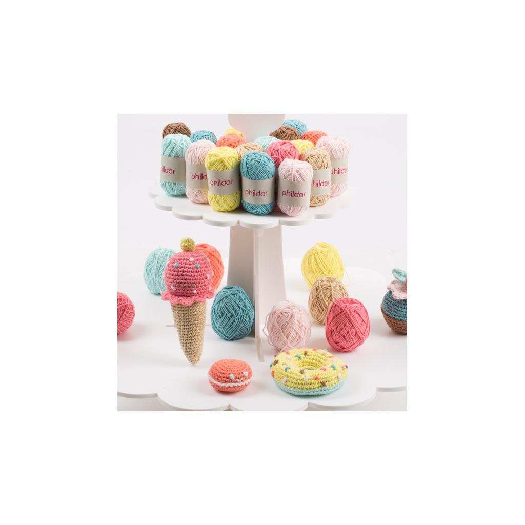 Kit Pour Amigurumi : Kit Amigurumi gourmand au crochet - Macaron, glace ...