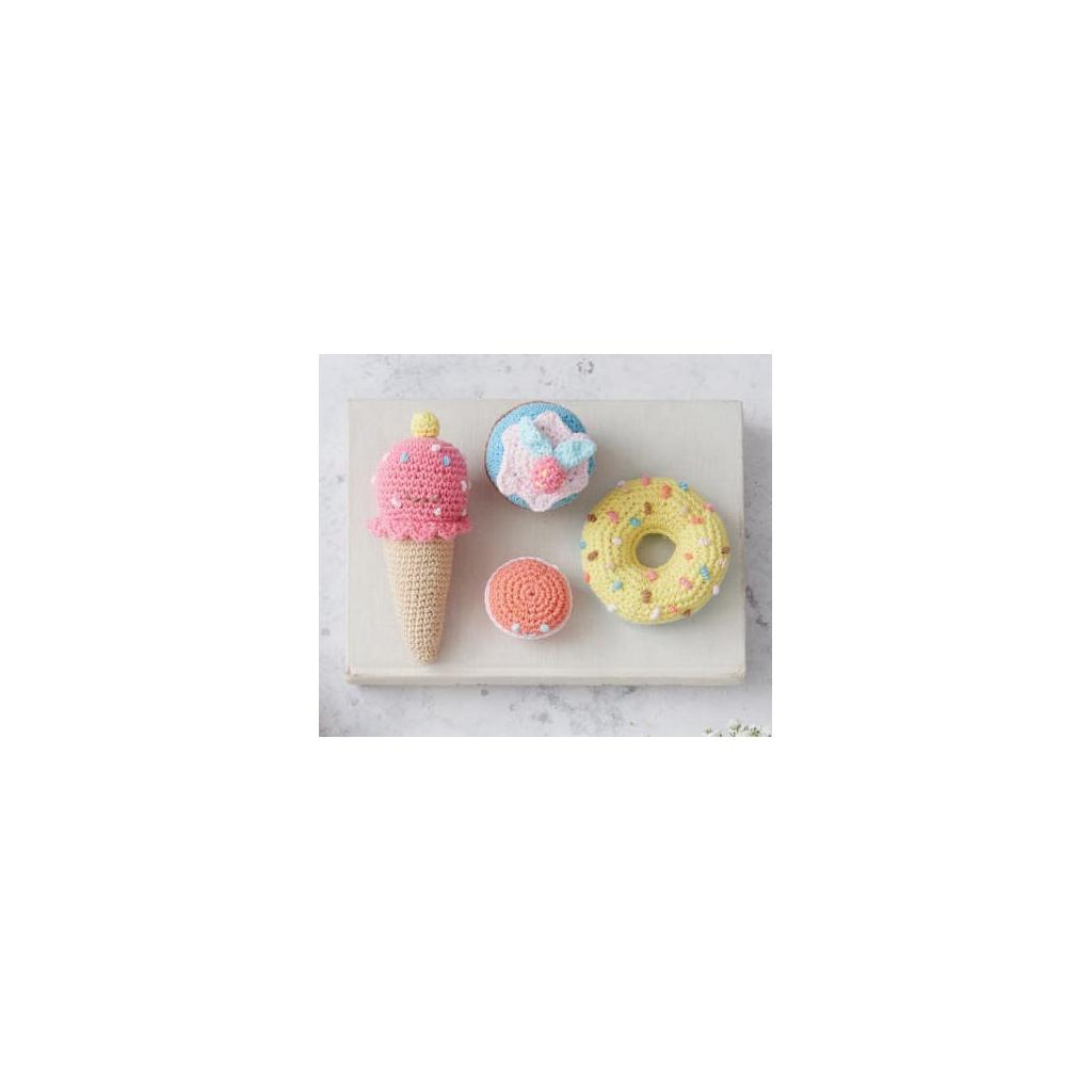 Kit Amigurumi gourmand au crochet - Macaron, glace ...