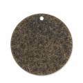 Sequins en métal diamanté rond 25 mm bronze x4