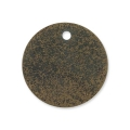 Sequins en métal diamanté rond 15 mm bronze x5