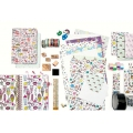 Set de 11 tampons en bois avec encreur - Magical Summer for Girl