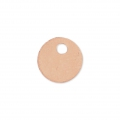 Sequin rond 6 mm Rose Gold Filled x 1