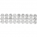 Swarovski Crystal Mini Mesh 40601 3 rangs 5,3 mm Crystal x5cm