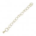 Chainette d'extension 70 mm en Acier inox doré