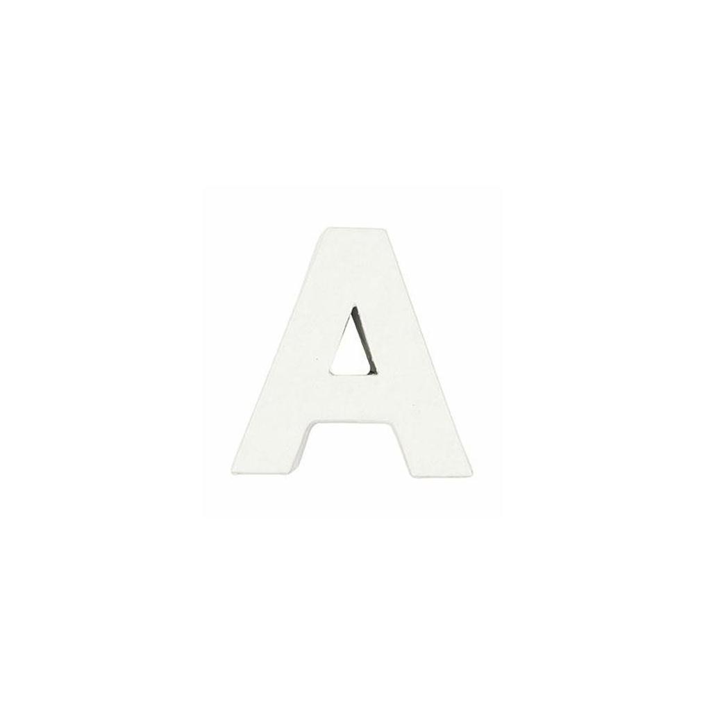 Petite lettre a en papier m ch 7 x 7 cm blanc poser et d core perles co - Port irlandais en 7 lettres ...