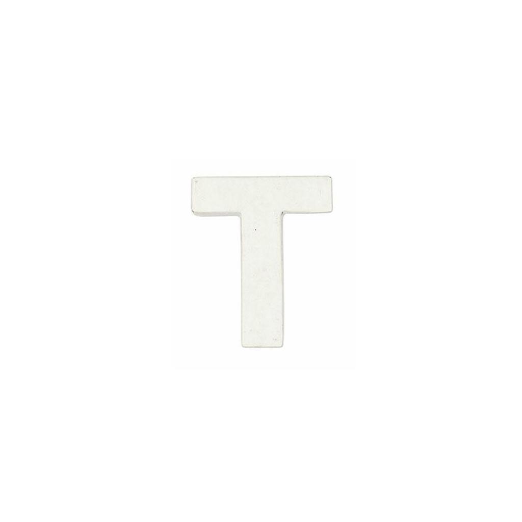 Petite lettre T en papier mâché 7 x 6 cm Blanc à poser et à décorer ...