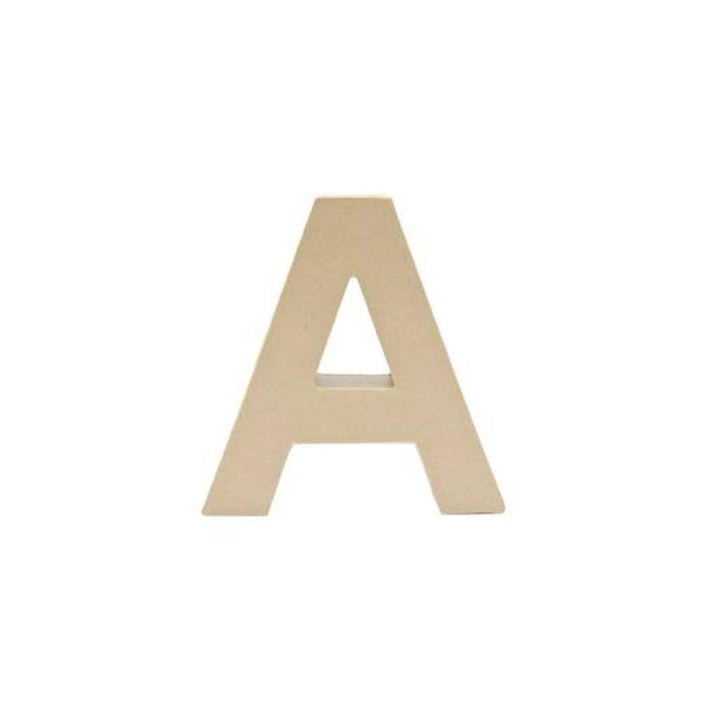Grande Lettre A En Papier Mâché 175 X 17 Cm à Poser Et à Décorer