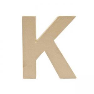grande lettre k en papier m ch 17 5 x 15 5 cm poser et d core perles co. Black Bedroom Furniture Sets. Home Design Ideas