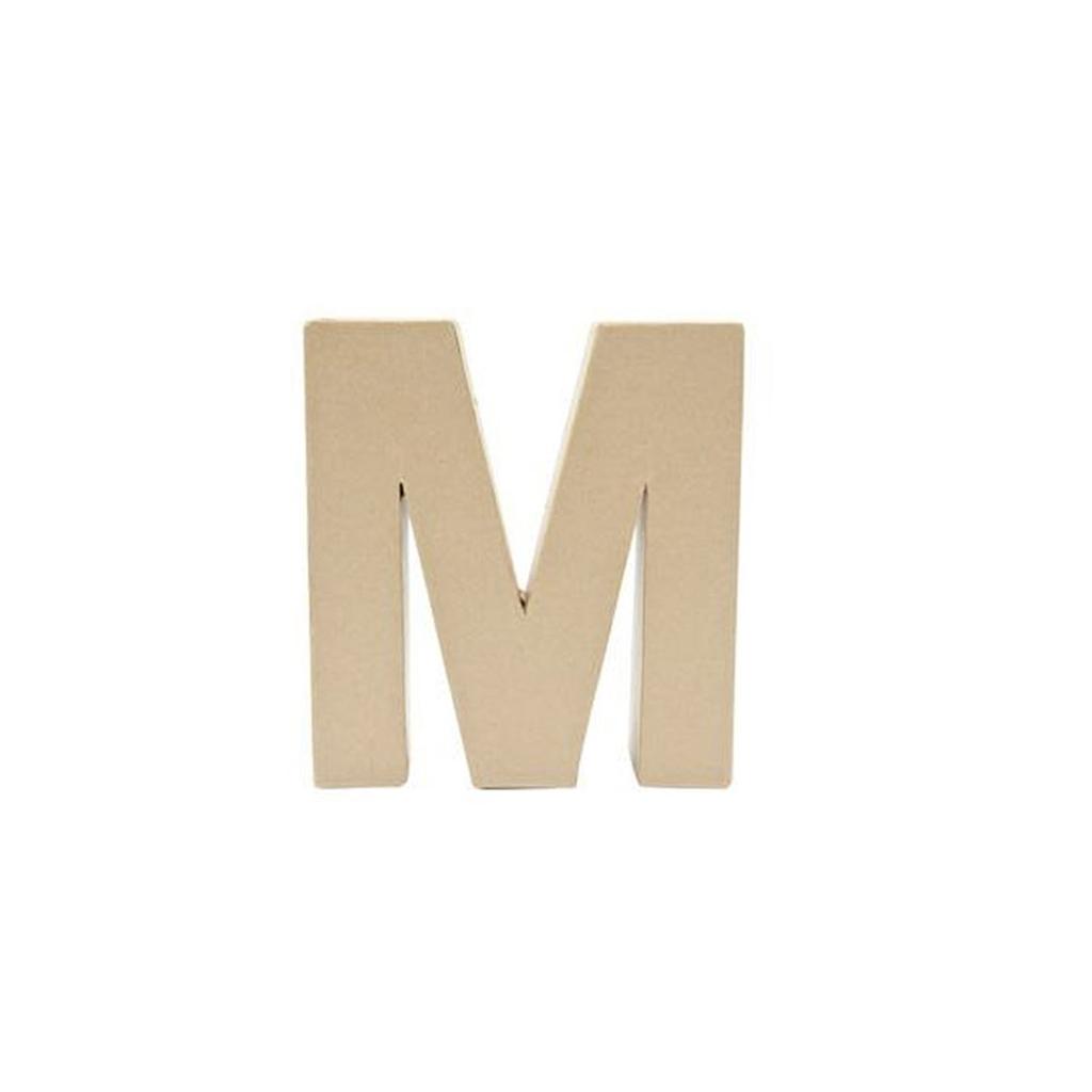 grande lettre m en papier m ch 17 5 x 17 cm poser et d corer perles co. Black Bedroom Furniture Sets. Home Design Ideas