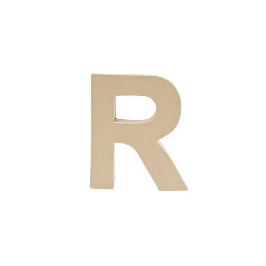 grande lettre r en papier m ch 17 5 x 14 cm poser et d corer perles co. Black Bedroom Furniture Sets. Home Design Ideas