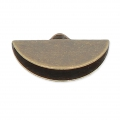 Embout pince demi-lune 19.5x11.5 mm bronze x1