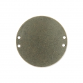Intercalaire rond 4 trous 20 mm Bronze x1