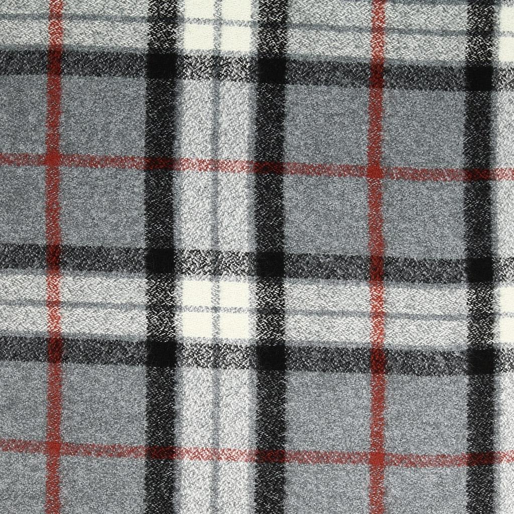 tissu mammoth flanelle en coton motifs carreaux grey plaid x10cm perles co. Black Bedroom Furniture Sets. Home Design Ideas
