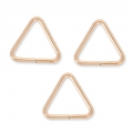 Anneaux ouverts triangulaires7.6 x 0.7 mm en Rose Gold filled 14 carats x5