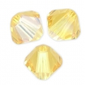 Toupies en cristal Swarovski 4 mm Light Topaz Shimmer x50