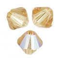Toupies en cristal Swarovski 4 mm Light Colorado Topaz Shimmer x50