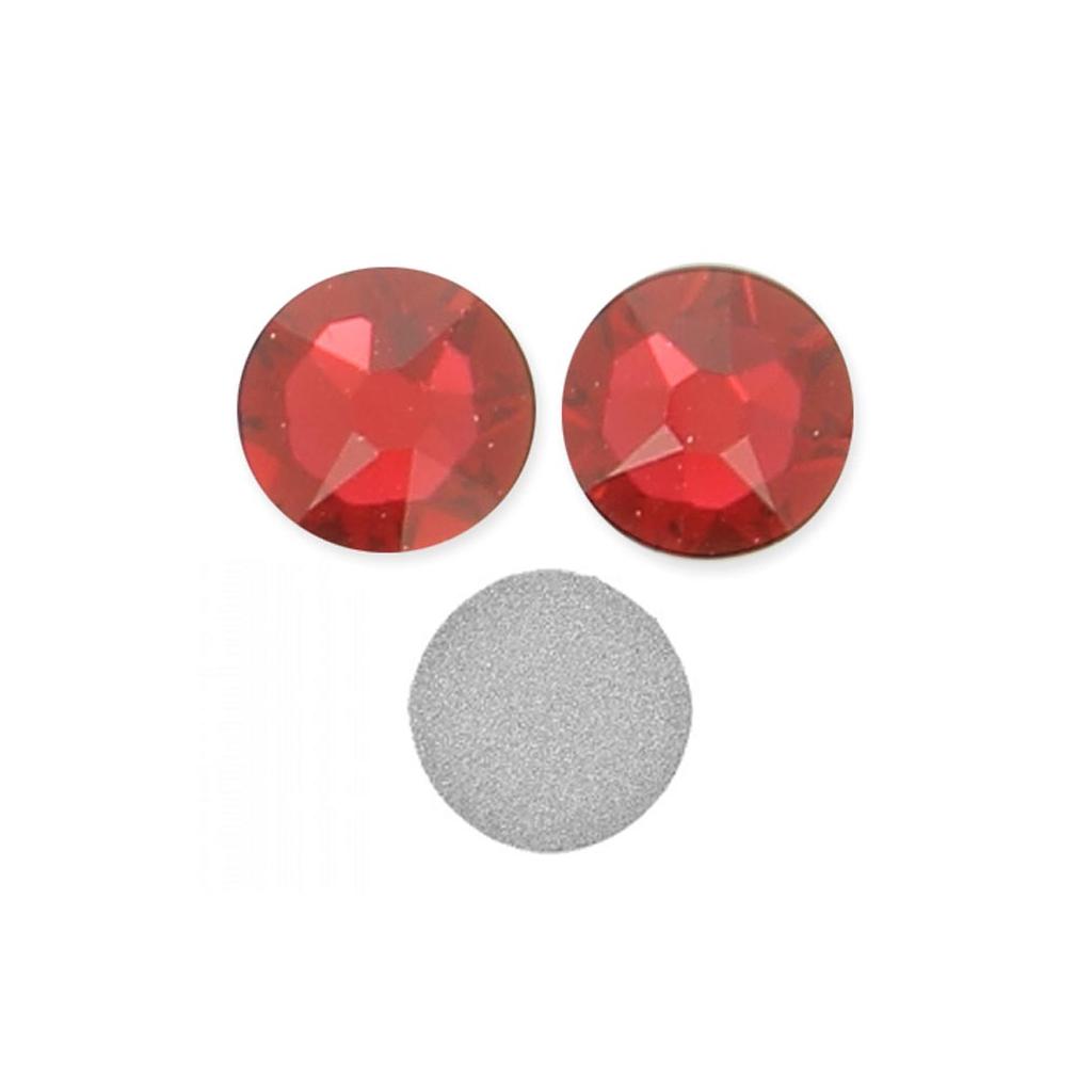 Strass à coller en cristal Swarovski 7 mm Scarlet x10
