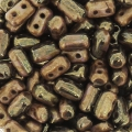 Rullas Duet 3x5 mm Bicolore Black/Gold Luster x10g