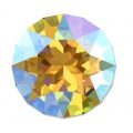Cabochon Swarovski 1088 8 mm Light Topaz Shimmer x1