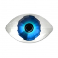 Cabochon Swarovski 4775 Eye 18x10.5 mm Crystal/Blue